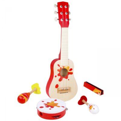 Akustinė gitara vaikams + muzikiniai priedai