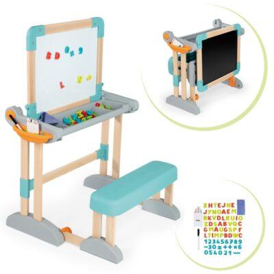 Medinė lenta - stalas su suolu ir aksesuarais