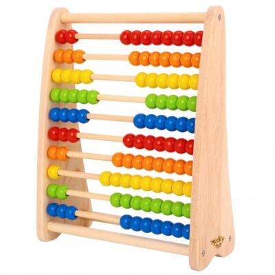 TOOKY TOY Duże Drewaniane Liczydło Edukacyjne Kolorowe-1