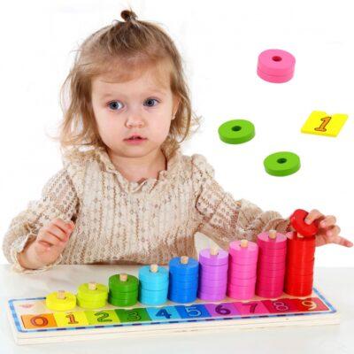 Medinė spalvų rūšiavimo priemonė