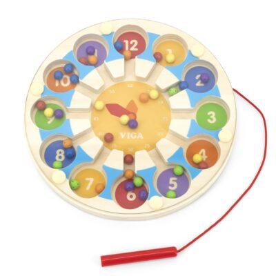 Viga Drewniana Gra magnetyczna Zegar Labirynt Magnetyczny-1