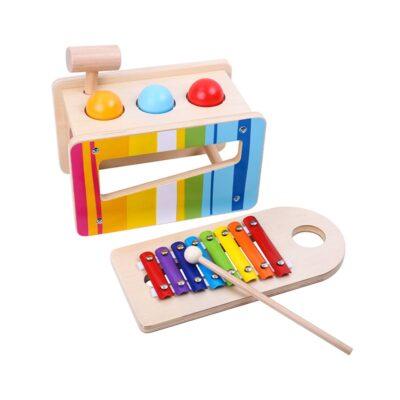 Medinių muzikinių instrumentų rinkinys