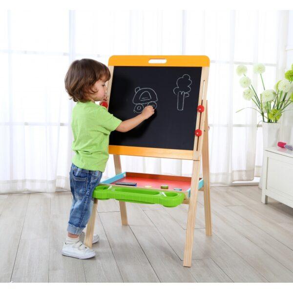 TOOKY TOY Dwustronna Magnetyczna Tablica Stojąca Dla Dzieci Składana-3