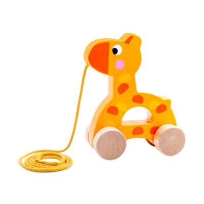 Važiuojanti medinė žirafa