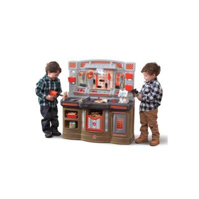 Duży Warsztat dla Dzieci Kącik majsterkowicza Światlo + 45 Akcesoria STEP2-1