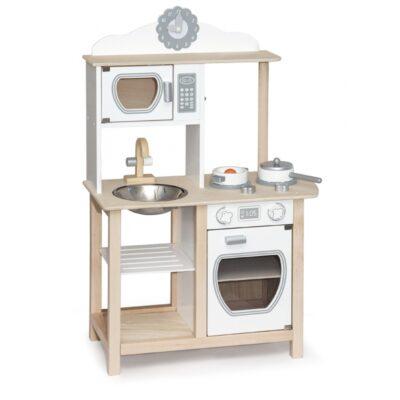 Žaislinė medinė virtuvė su aksesuarais