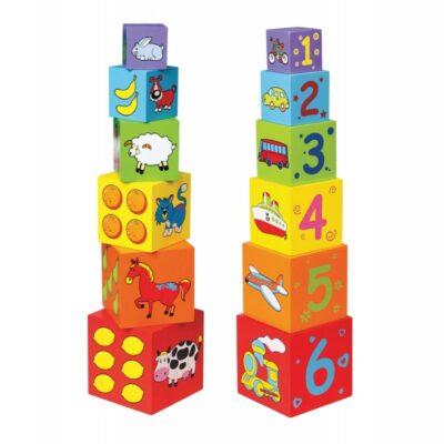 Medinės bokšto kaladėlės